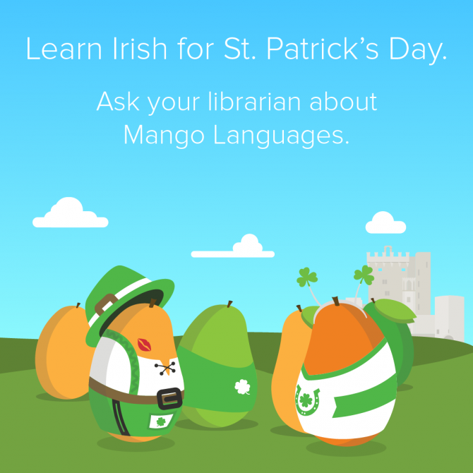 Learn Irish for St. Patrick's Day with Mango Languages!