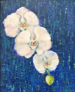 Orchid Trio by Elaine Dobrowolski
