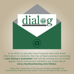 Follow this link to register your email address to receive the City of East Lansing's e-newsletter.