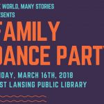 One World, Many Stories presents a family dance party at ELPL on March 16 at 5:30pm