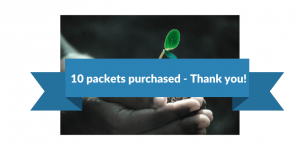 10 packets purchased - thank you!