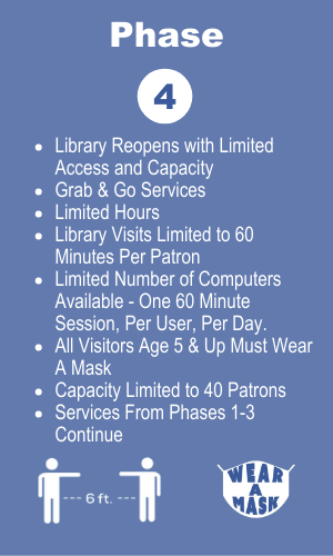 Phase 4 of the library's re-opening plan