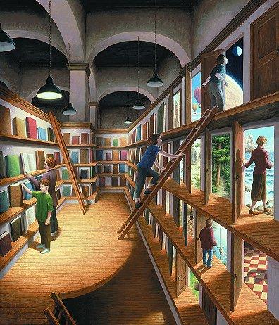 Written Worlds by artist Rob Gonsalves
