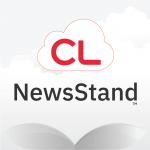 Logo for cloudLibrary NewsStand digital magazine service
