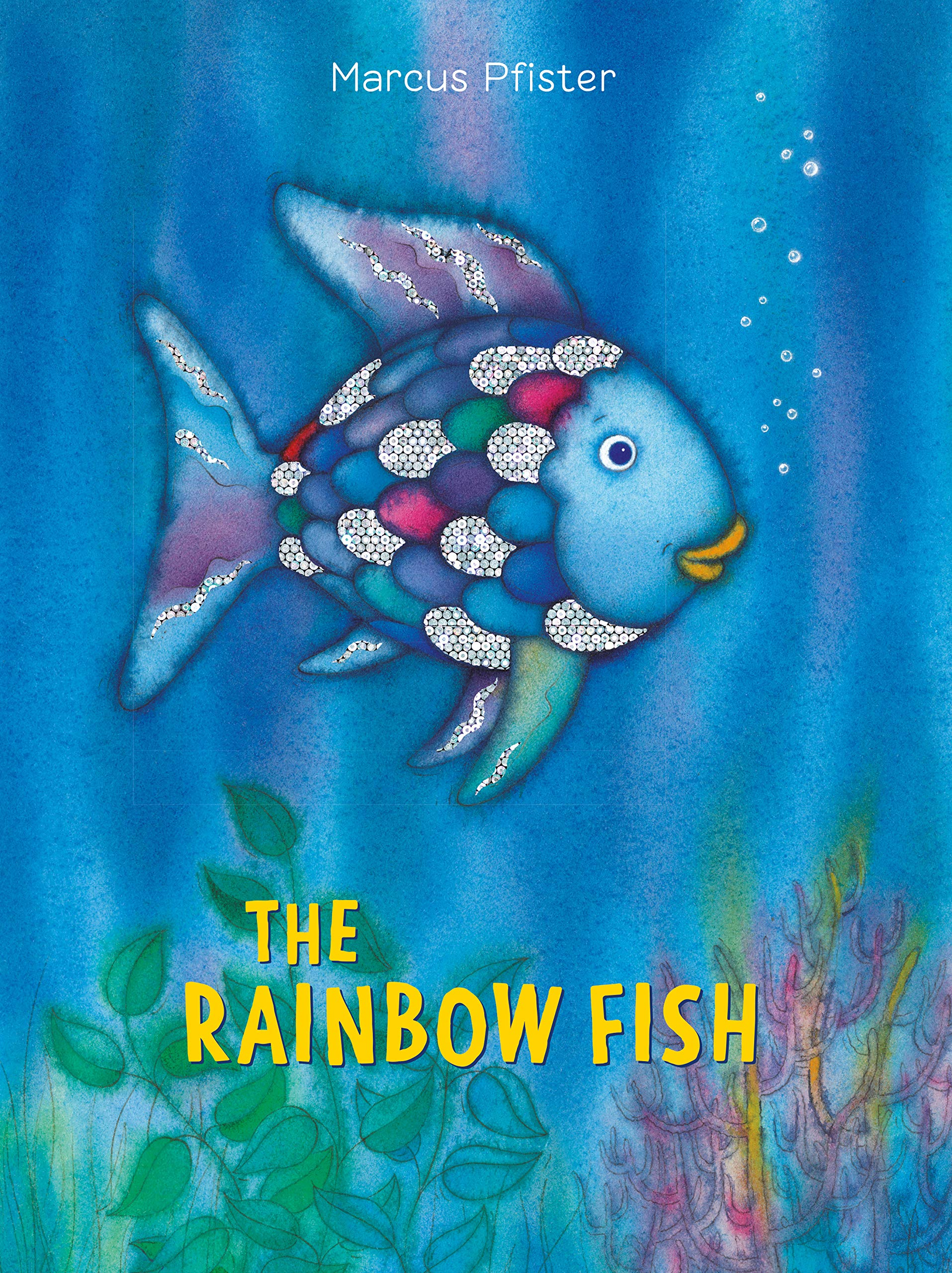 Jacket cover for The Rainbow Fish, writen and illustrated by Marcus Pfister