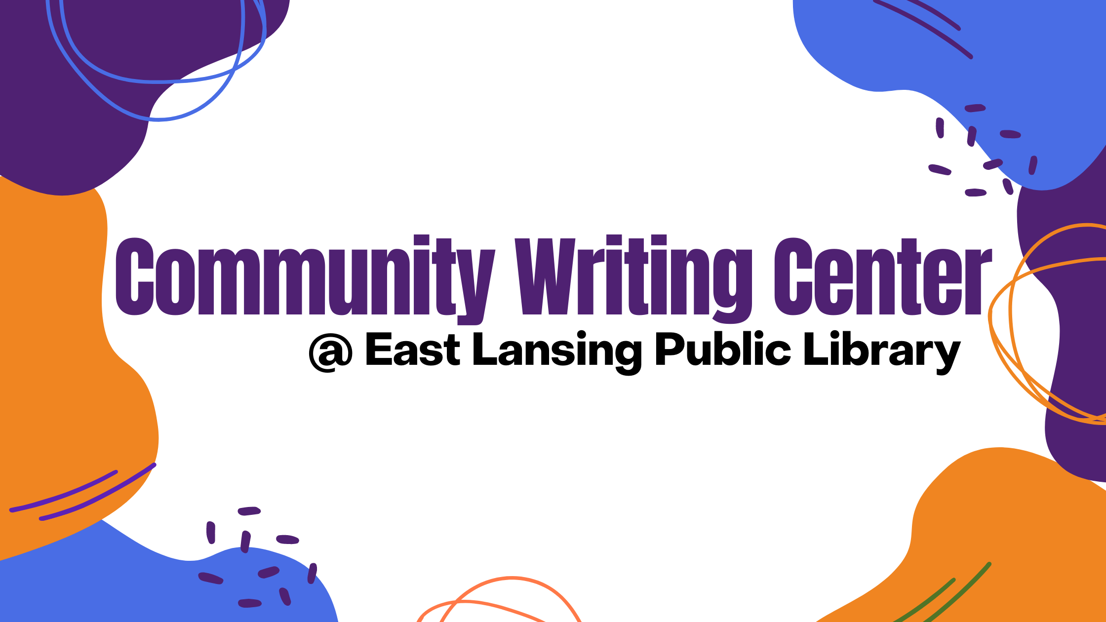 Logo for the Community Writing Center at the East Lansing Public Library